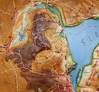 Reliefkarte der Flensburger Innenförde